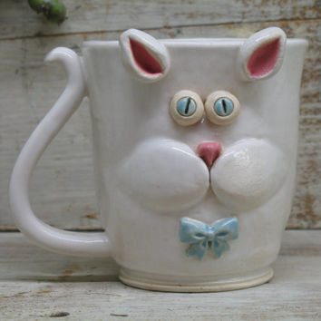 Best pottery face mugs products on wanelo for Animal face mugs