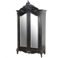 Sassy Boo 2-Door Mirrored Armoire