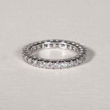 Eternity Sterling Silver Band