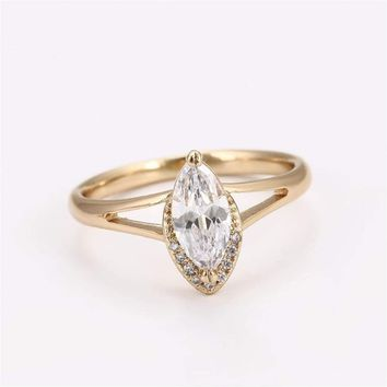 Marquise cz Ring 18kts of Gold Plated
