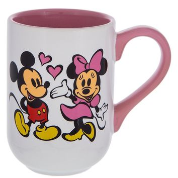 Disney Parks Mickey and Minnie Cartoon Cuties Ceramic Coffee Mug New