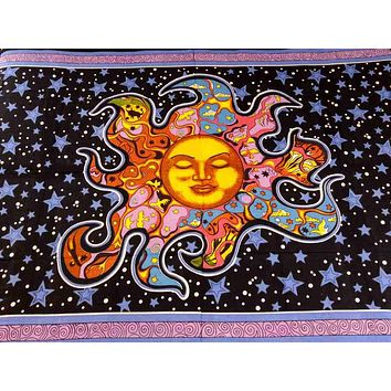 Cotton Yoga Meditation Dorm Tapestry Wall Hang Tablecloth Rectangle Beach Sheet
