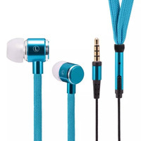 HEXIN Newest Metal Shoelace Earphones Stereo In Ear Headset Headphones With MIC 3.5mm Jack Standard = 1696863748
