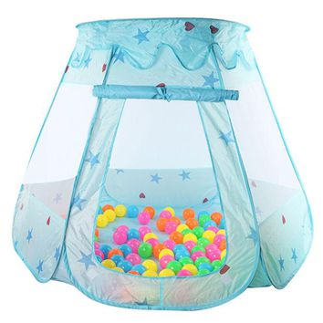 VONEGQ New Indoor Polyester Play House Baby Ocean Ball Pit Pool Kids Princess Hexagonal Tent