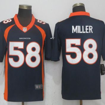 NEW Nike Denver Broncos 58 Miller Blue 2017 Vapor Untouchable Limited Playe