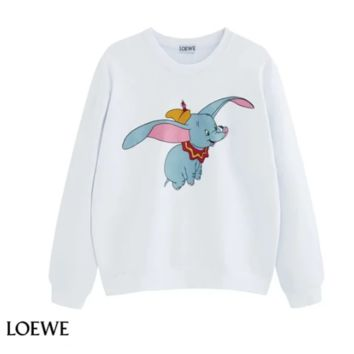 LOEWE New fashion dumbo letter print long sleeve top sweater White