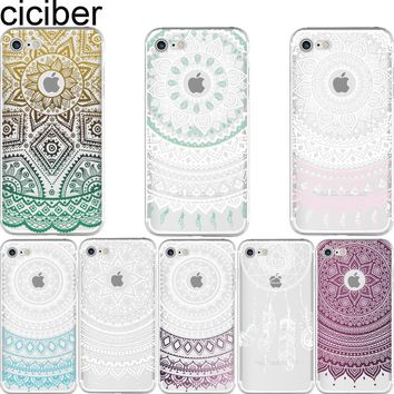 ciciber New Fashion Paisley Mandala Pattern design soft silicon Phone cases cover For iPhone 6 6S 7 8 plus 5S SE X fundas capa