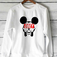 Mickey Mouse obey Popular sweater unisex adults