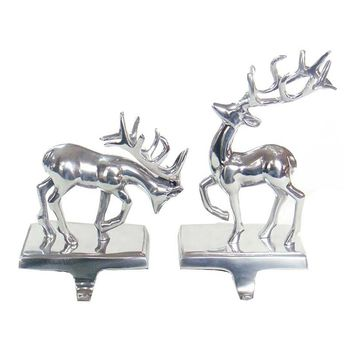 St. Nicholas Square 2-pc. Reindeer Stocking Holder Set