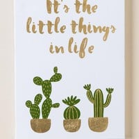 It's The Little Things In Life Cactus Wall Decor
