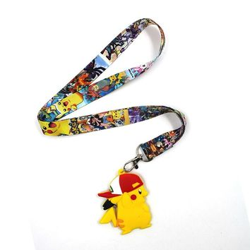 OH Hot Anime For Poke Fans Pocket PM Monster Keychain Phone Rope Pendant Strap Charm Cords Lariat Clip Lanyards CostumeKawaii Pokemon go  AT_89_9