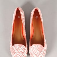 Unit-4 Tribal Round Toe Loafer Flat
