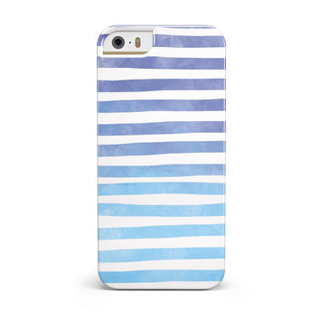 Blue WaterColor Ombre Stripes INK-Fuzed Case for the iPhone 5/5S/SE