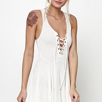 Lucca Couture Lace-Up Flare Tank Dress at PacSun.com
