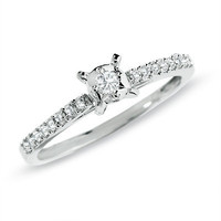 1/5 CT. T.W. Diamond Promise Ring in 10K White Gold - View All Rings - Zales