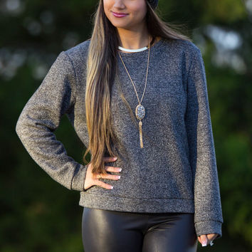 Frnch-Run The Show Sweater Top-Black