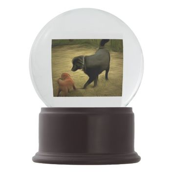 Labrador Retriever Snow Globe