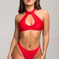 Pink Sands Beach Two Piece Swimsuit - Red