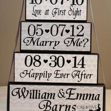 Special Dates Wedding Blocks