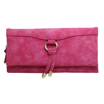 Luxury Matte suede Leather Women Wallet Long Fashion Ladies Day Clutch Purse with Card Holder Coin Money Bag Female