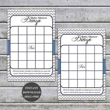 Baby Shower Bingo Game Baby Shower Bingo Boy Baby Boy Bingo Baby Shower Games Bingo Game Baby Instant Download Digital Files PDF (57b)