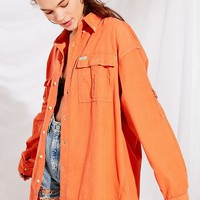 Urban Renewal Remade Color Pop Corduroy Button-Down Shirt | Urban Outfitters