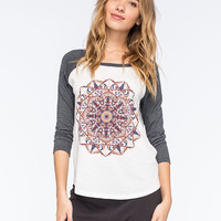 Billabong Mandala Mama Womens Raglan Tee Black/White  In Sizes
