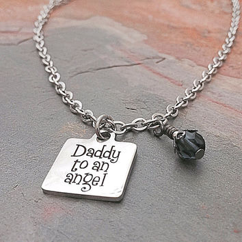 SALE - Father Daughter Jewelry - Daddys Girl Jewelry - Gift for Daughter - Daddys Angel - Stainless Steel Jewelry - Stainless Charm