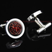 game of thrones house targaryen dragon Mens Cufflinks,a song of ice and fire Mens Cufflinks,game of thrones jewelry