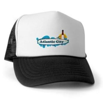 Atlantic City NJ - Surf Design. Trucker Hat> Atlantic City NJ - Surf Design> Beach Tshirts.