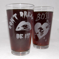 Rocky Horror Picture Show Etched Pint Glass Set