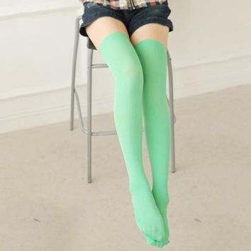 Hot Sexy Women Girl Thigh High OVER the KNEE Socks Cotton Stockings Multi-Color