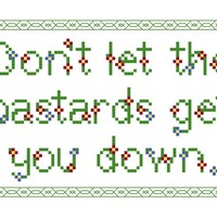 Don't let the bastards get you down DIY Cross Stitch Kit on the redditgifts Marketplace