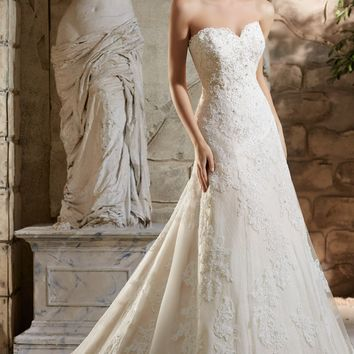 Lace Embellished Gown by Bridal by Mori Lee