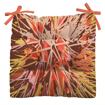Rosie Brown Natures Fireworks Outdoor Seat Cushion