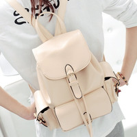 New Students School Bag College Wind Han Edition PU Leather Backpack Women Messenger Bags = 1932499908