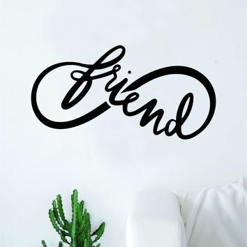 Infinity Friend Wall Decal Sticker Vinyl Art Bedroom Living Room Nursery Quote Love Forever Tattoo Family
