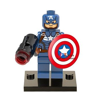 Single Sale superhero marvel Captain America movie building blocks model bricks toys for children brinquedos menino