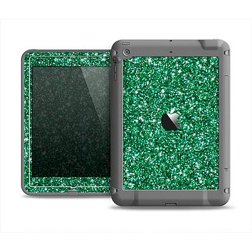 The Green Glitter Print Apple iPad Air LifeProof Fre Case Skin Set