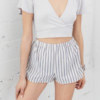 Julia Stripe Side Tie Shorts