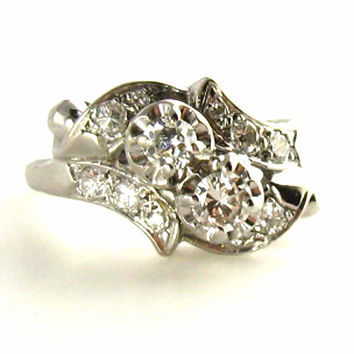 Vintage Cocktail Ring with Tons of Diamonds - Appraised $2800