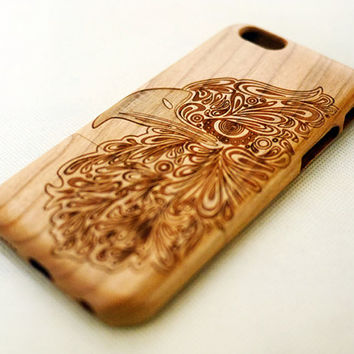 Eagle Head Wood iPhone 6 Case - Cherry Wood iPhone 6 Case - Custom iPhone 6 Wood Case - Wooden iPhone 6 Case - Wood iPhone Case - Gift