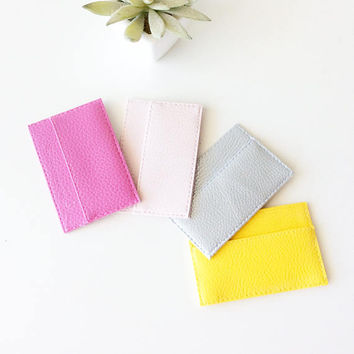 Womens credit card holder, slim card holder wallet, small wallets for women, card sleeve, thin wallet, personalized card holder, cute gifts