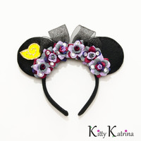 Ursula Mouse Ears Inspired Headband, Disney Ears, Ursula Dress, Ursula Costume, The Little Mermaid Birthday, Disney Headband, Disney Cruise