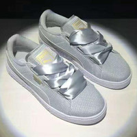 PUMA Rihanna Bows  Women Running Shoes Shoes gray H-PSXY