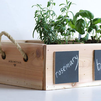 Indoor Outdoor Herb Garden with Chalkboard by MeriwetherOfMontana