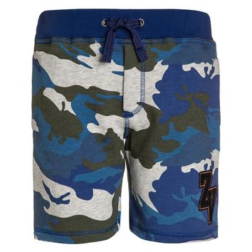 Zadig & Voltaire Boys Blue Camo Sweat Shorts