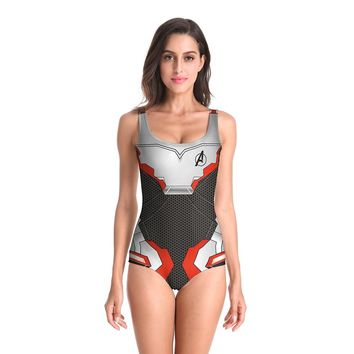 Avengers Endgame Quantum Realm Cosplay Sexy Costumes Bodysuit for Women Bikini Jumpsuit Swimwear 3D printing Jumpsuits Swimsuit