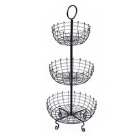 3-tier Iron Countertop Fruit And Vegetable Basket