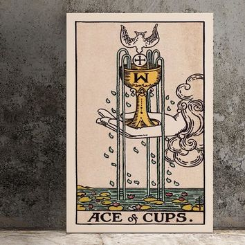 Ace of Cups- Tarot Card Art - The Ace of Cups Card Poster, No Frame